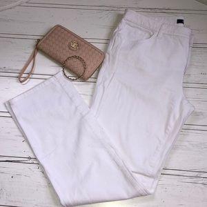 Chaps White Boot Cut Pants